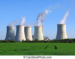 power plant - coal-burning power plant