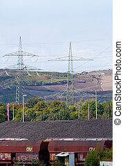 Coal cargo trains