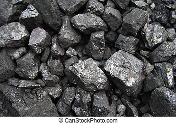Coal - close up of black and shiny coal