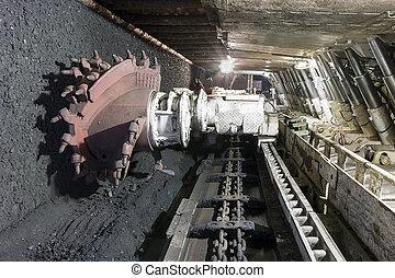 Coal extraction: Coal mine excavator - Longwall Mining: ...