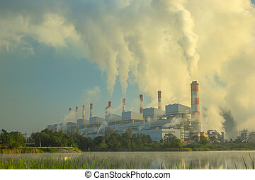 Coal fired power plant - Coal fired power plant in the...
