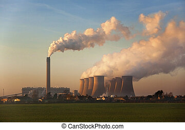 Coal Fired Power Station - England - A coal fired power...