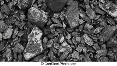 coal in the background coal mine. Open Cast Coal Mining -...