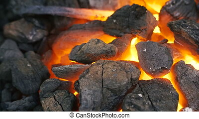 Coal. Incandescent coal