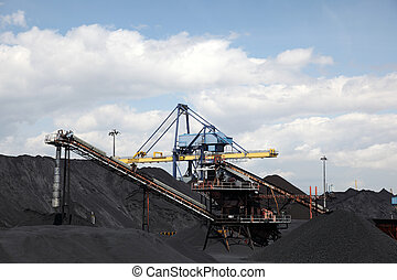 Coal industry facilities at port