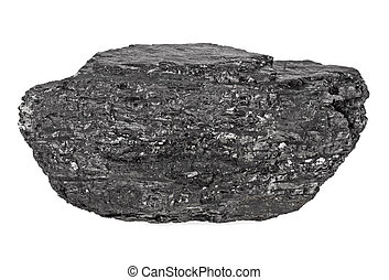 Coal isolated on a white background