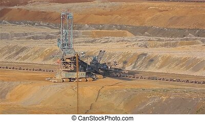 Coal Mine Excavation - Open pit mining of coal