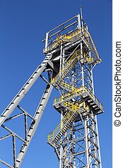 Coal mine tower