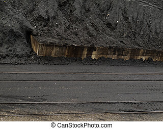Coal mine train transfer storage site