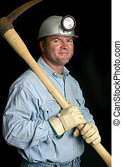 Coal Miner - Friendly - A friendly coal miner with his pick...