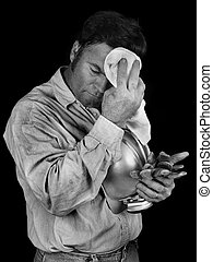Coal Miner - Tired & Dirty BW