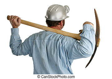 Coal Miner With Pickax - Back1