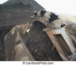 Coal mining. - Digger. Extraction of coal  digger.