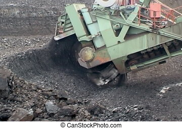 Coal mining. - Extraction of coal  digger.