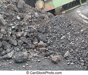 Coal mining. Extraction of coal  digger.