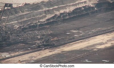 Coal Mining with a bucket-wheel excavator