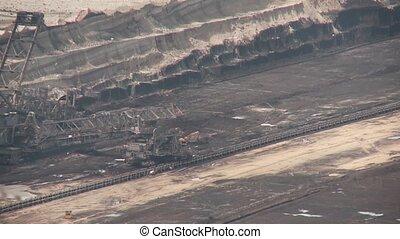 Coal Mining with a bucket-wheel excavator