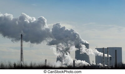 coal power station time lapse