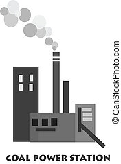 Coal power station - Vector