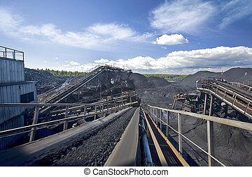 Coal sorting. Canon 5d 16-35 mm