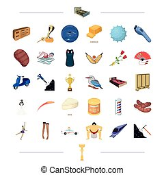 , coal, sports, travel and other web icon in cartoon style. textiles, entertainment, furniture, icons in set collection.