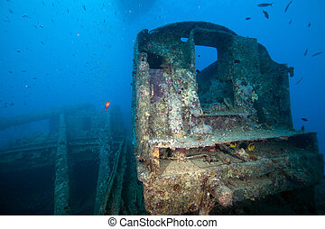 Coal tender on the SS Thistlegorm.