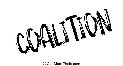 Coalition rubber stamp. Grunge design with dust scratches....