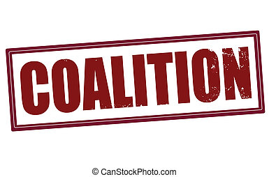 coalition stamp - coalition grunge stamp with on vector...