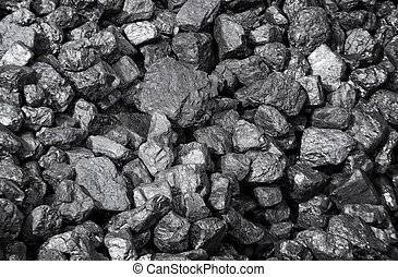 coals - a lot of coal pieces in bulk