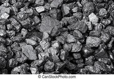 coals - a lot of coal pieces in bulk