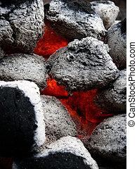 coals for a BBQ