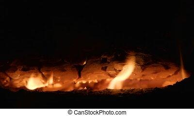 Coals in the bonfire