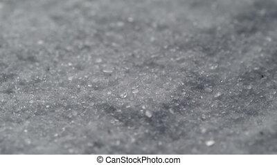 Coarse Salt Detailed Texture Background Macro closeup....