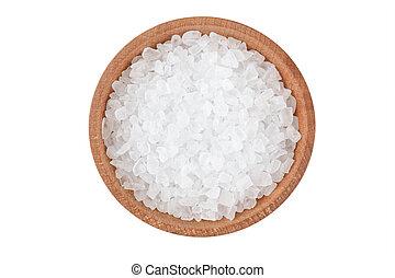 coarse salt isolated