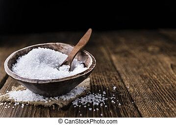 Coarse Salt (selective focus) as detailed close-up shot