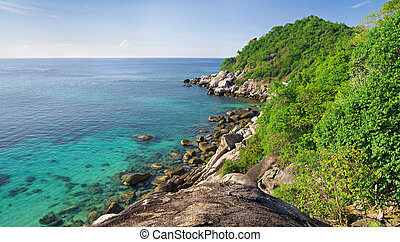 coast and clear sea