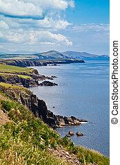 Coast at Dingle Peninsula - Summer landscape on the coast of...