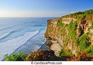 Coast at Uluwatu temple, Bali, Indonesia.