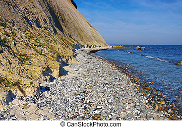 coast Kap Arkona, Ruegen Island in Germany