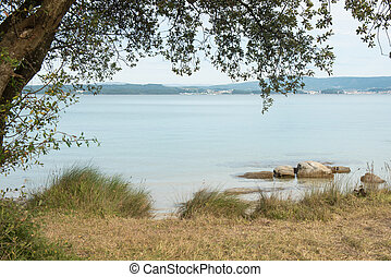Coast landscape in Arousa island, Galicia, Spain