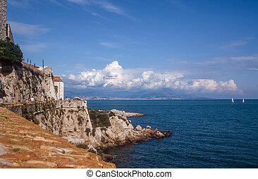 Coast line near Antibes, Cote Azur, France