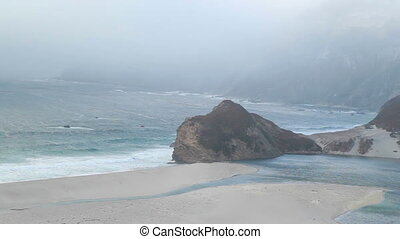 Rocks and beach shore California