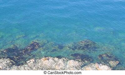 Coast marine blue lagoon clean