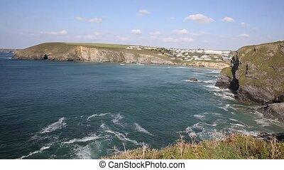 Coast Mawgan Porth north Cornwall - Mawgan Porth coast north...