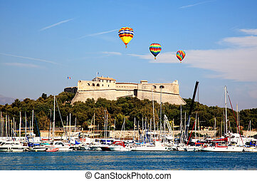 coast of Antibes France - The scenery of coast of Antibes...