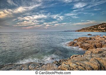 Coast of Balagne region of Corsica - Coast of the Balagne ...