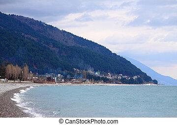 coast of Black Sea in Abkhazia