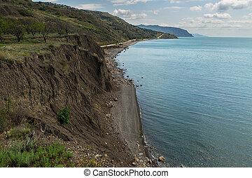 Coast of Black Sea in Crimea