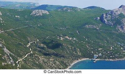 coast of Crimea. South. Laspi Bay. UltraHD (4K)