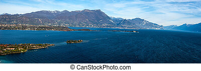 coast of garda lake, desencano, italy (La Rocca, Isolda di...